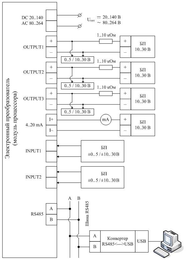 Схема подключения ЭП